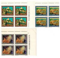 ITALIA 1977 S.330 PROPAGANDA TURISTICA SERIE COMPLETA QUARTINA MNH** - Hojas Bloque