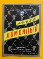 12944 -   Etiquette Russe écriture Cyrillique  Liqueur De Citron - Etiquettes