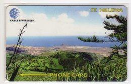 SAINTE-HELENE PROPEROUS BAY PLAIN 10 £ Ref MV CARDS STH-28 1200 Ex. RARE N° 325CSHB - Sainte-Hélène