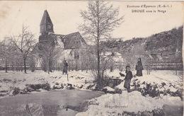 Environs D'Epernon (28) Eure Et Loir - Droué Sous La Neige - France