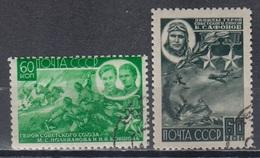USSR 1944 Heroes World War II Medal Awards MiNr.930-31 - Usati