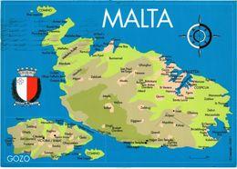 CPM AK Map Of Maltese Islands MALTA (881980) - Malta