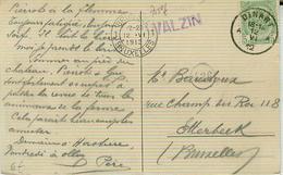 WALZIN:  Op Zichtkaart/carte Vue Vertrek Dinant 1912  MOOI - Marcofilia