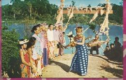 ASIE -  MALAISIE - KAYAN DANCING  - BORNEO - Jeune Danseuse - Malaysia