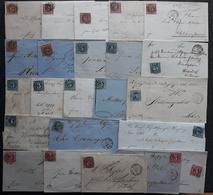 BAYERN 1857/1866, Partie 23 Belege. Kreuzerausgaben - Sammlungen