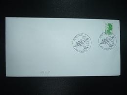 LETTRE TP LIBERTE 1,60 VERT OBL.19 FEV 84 JERICHO 80 AMIENS - Guerre Mondiale (Seconde)
