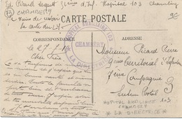 Cachet Militaire : 73 CHAMBERY - Marcophilie (Lettres)