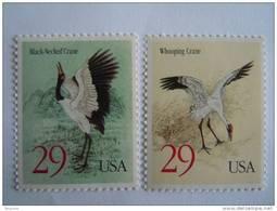USA Etats-Unis D'Amerique United States 1994 Crane Grues Kraanvogels Oiseaux Yv  2281-2282 MNH ** - Estados Unidos