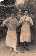 ¤¤   -  PORNICHET  -  Carte-Photo De 3 Hommes  -  Boucher , Cuisinier ??  -  Voir Le Dos     -   ¤¤ - Pornichet