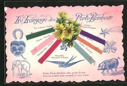 AK Le Langage Des Porte-Bonheur, Sprache Der Glücksbringer - Ohne Zuordnung