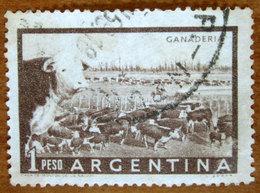 1958 ARGENTINA Animali Bestiame Mucche Cattle Ranch (Ganaderia) 1p  Usato - Usati