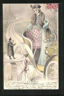 Künstler-AK Sign. A. Muller: A La Chauffeuse: Un Petit Chauffeur - Autres Illustrateurs