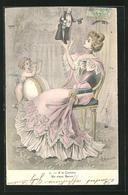 Künstler-AK Sign. A. Muller: A La Cocotte, Un Vieux Baron - Autres Illustrateurs