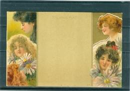 4 Femmes Art Nouveau - TBE Précurseur - Illustrators & Photographers