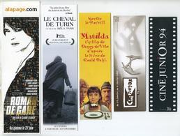 Lot De 5 Marque-page Thème Cinéma Et Films. Lire Description - Bookmarks