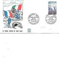 FRANCE FDC N° 1454 LE TUNNEL ROUTIER DU MONT BLANC - FDC