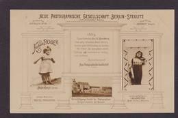 CPA Publicité Cartes Postales Photo Publicitaire Réclame Circulé Allemagne Germany - Werbepostkarten
