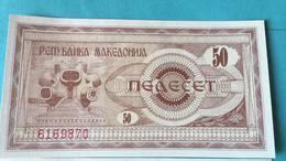 Billet Macédoine 50 Denar - Macedonia