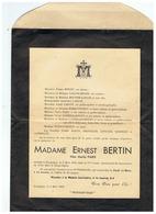 SOUVENIR MADAME ERNEST BERTIN Née MARIA PARIS Décédée Le 06 MARS 1948 à ROCQUIGNY (NORD) - Images Religieuses