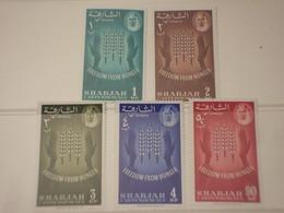 SHARJAH - 1963 FAME 5 VALORI - NUOVI(++) - Sharjah