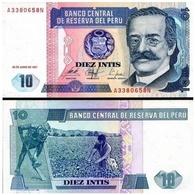 Billet Pérou 10 Intis 1987 - Pérou