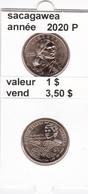 Pieces 1 Dollar 2020 P Sacagawea - EDICIONES FEDERALES