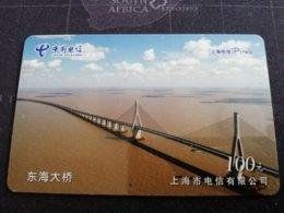 CHINA SHANGHAI BRIDGE 100     CARD Used **1153** - China