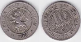 Lot 020  BELGIQUE LEOPOLD Ier   10 CENTIMES  ANNEE 1862 TYPE CUPRO-NICKEL - 1831-1865: Leopold I