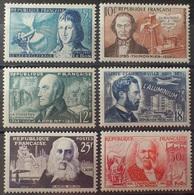 R1615/1958 - 1955 - CELEBRITES - N°1012 à 1017 NEUFS**- Cote (2020) : 15 € ➤➤➤ PRIX DE DEPART A 15% DE LA COTE CATALOGUE - Francia