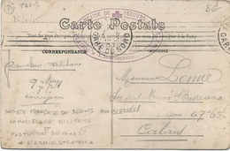 Cachet Militaire : 75 PARIS - Marcophilie (Lettres)