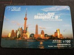CHINA SHANGHAI CITY VIEUW    CARD Used **1157** - China