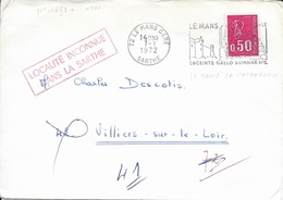 SARTHE 72 -  LE MANS GARE -  LE MANS SA CATHEDRALE ENCEINTE GALLO ROMAINE IIIe S;   - 1972   BELLE FRAPPE - Postmark Collection (Covers)