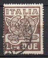 1923 Regno Marcia Su Roma N. 145  2 Lire Bruno  Timbrato Used - 1900-44 Victor Emmanuel III.