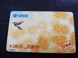 CHINA    COLIBRI       CARD Used **1161** - China