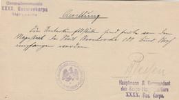 Document Administratif Du Generalcommando XXXX Reservekorps Stabswache - Weltkrieg 1914-18