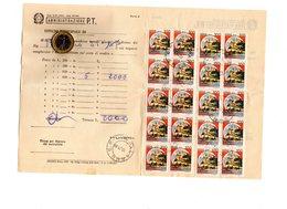 P0155 STORIA POSTALE 20 CASTELLI L. 100 SU MOD. 32 -O (1983) - 1981-90: Storia Postale