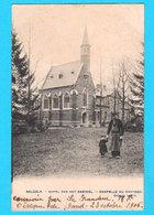 CPA BELCELE BELSELE (Sint Niklaas) Kapel Van Het Kasteel / Chapelle Du Château Animée, Circulée 1906 - 2 Scans - Sint-Niklaas