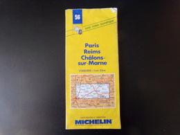 Carte Routière Michelin Paris Reims Châlons-sur-Marne, 1993 - Maps/Atlas