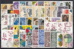 ESPAÑA 1988 Nº 2927/2985 AÑO COMPLETO USADO, 55 SELLOS + 2 HB + 1 CARNET - Full Years