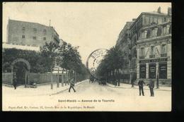 94 Val De Marne Saint Mandé  Avenue De La Tourelle Carton 1908 Animée Agence Cycliste - Saint Mande