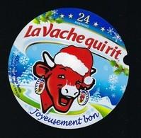 """Etiquette Fromage La Vache Qui Rit  """"Noël"""" Joyeusement Bon 24 Portions"""" - Fromage"""