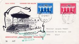 Enveloppe Numérotée FDC 2130 2131 Courrier Par Ballon OOBMG Manage à Gilly Association Philatéique Brainoise - FDC