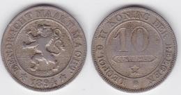 LOT 110  LEOPOLD II   10 CENTIMES CUPRO-NICKEL Type Braemt 1894 Flamande - 04. 10 Centimes