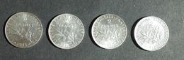 4 PIECES DE 2 FRANCS - 1915 - 1916 - 1917 - 1918 - I. 2 Francs