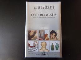 """Carte Des Musées """" Suisse Et Principauté De Liechtenstein """", 1996 - Maps/Atlas"""