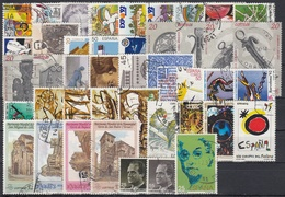 ESPAÑA 1990 Nº 3047/3098 AÑO COMPLETO USADO, 43 SELLOS + 3 HB + 1 CARNET - Full Years