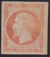 France                              Yvert Et Tellier Num 16 * Neuf Avec Gomme                         Signé Maury - 1853-1860 Napoleon III