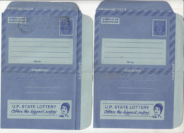 """FDC + Unused Combo ILC, 'UP State Lottery"""", Gambling, Mathematics Odds, Risk,  Games, Women, India As Scan - Giochi"""