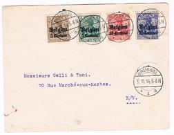 OC 1 , 2 ,3 ,4 Op Brief 1914 Brussel  CTR - Weltkrieg 1914-18