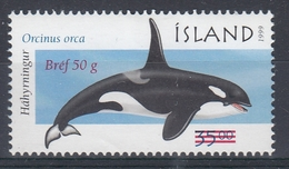 +Iceland 2001. Surprinted Whale Item. AFA 973. MNH(**) - Ungebraucht